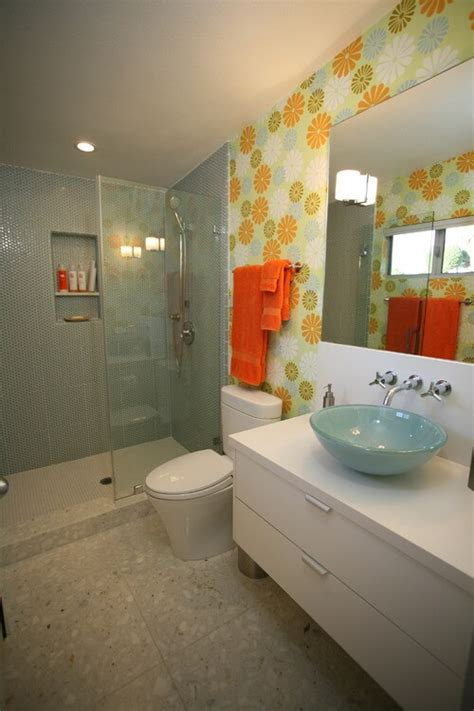 green and orange bathroom how to choose colors for a bathroom interior design