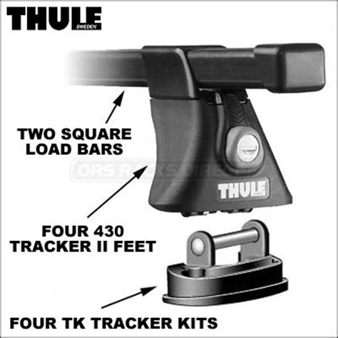 Thule Tracker Ii Roof Rack System by Thule Roof Rack 430 Tracker Ii Foot Pack And Load Bars New