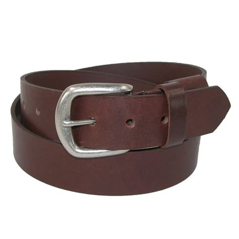 mens lincoln leather bridle belt with elastic by
