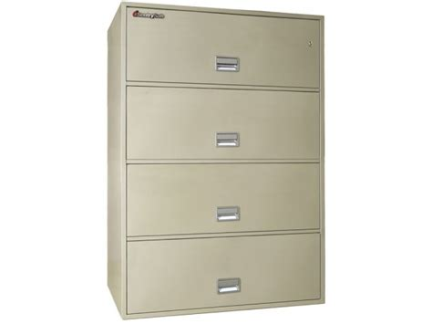4 drawer lateral fireproof file cabinet