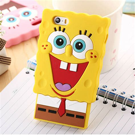 Spongebob Squerpants Cover With High Quality For Ipod Touch high quality 3d spongebob squarepants silicon for iphone 6 4 7 inch cover for