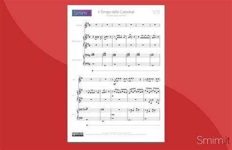 per cocciante testo il tempo delle cattedrali spartito per violino e