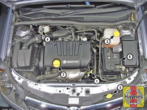 vauxhall astra     fluid level checks haynes publishing