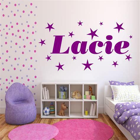 personalised stars  girls bedroom wall art stickers decal transfer mural ebay