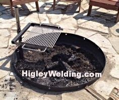 pit swing out grill stainless steel pit grills higley firepits
