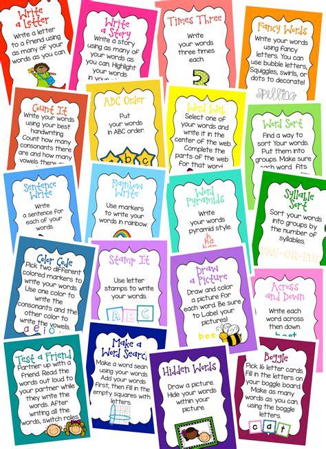 printable word work games image gallery work activities