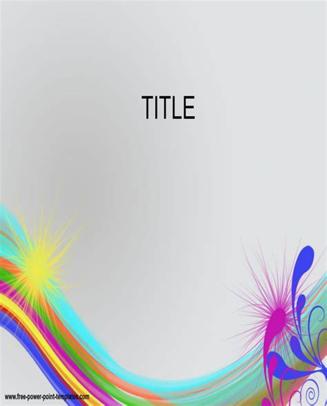 template ppt free download rainbow download rainbow colors powerpoint template for free