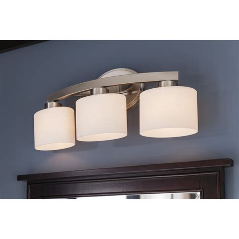 Allen Roth Lighting Fixtures 74 Shop Allen Roth 3 Light Merington Brushed Nickel Standard Bathroom Vanity Light At Lowes