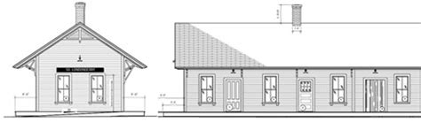 Railroad House Plans by Badger And Associates Inc West River Railroad Depot
