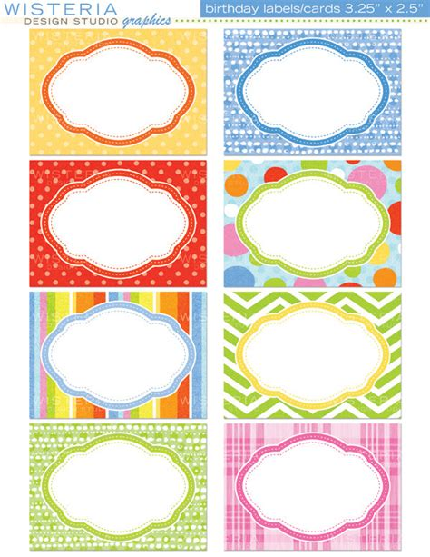birthday labels template free items similar to birthday labels cards 3 5 quot x 2 5 quot instant for personal