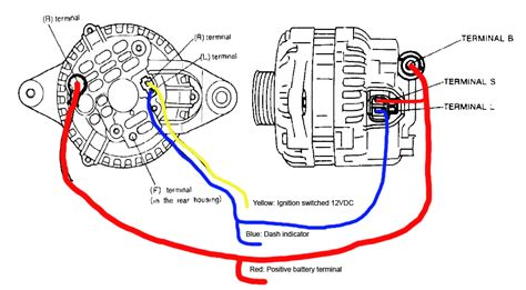 mitsubishi alternator wiring diagram mitsubishi alternator