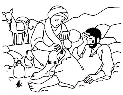 coloring pages for the good samaritan story parable of the good samaritan the good samaritan