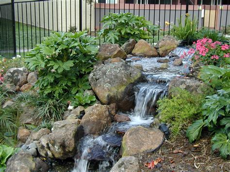 landscaping water features water fall feature landscape designs