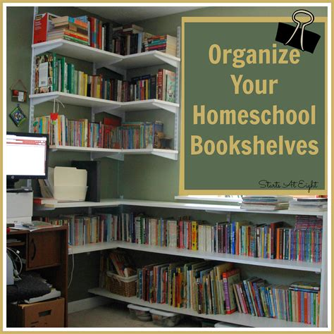 how to organize bookshelf organize your homeschool bookshelves startsateight