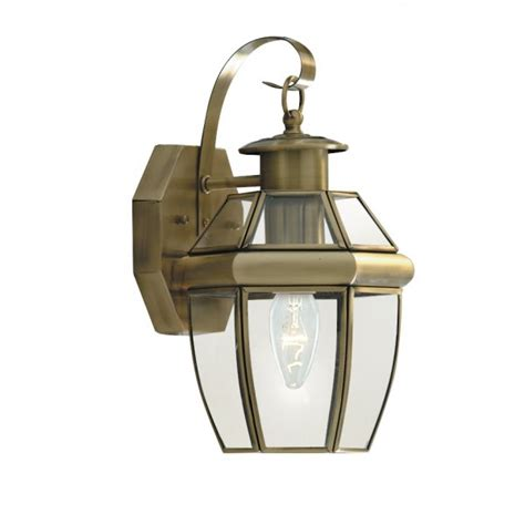 traditional brass wall lights searchlight 8067ab 1 light traditional outdoor wall