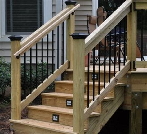 outdoor stair railing height 3 outdoor