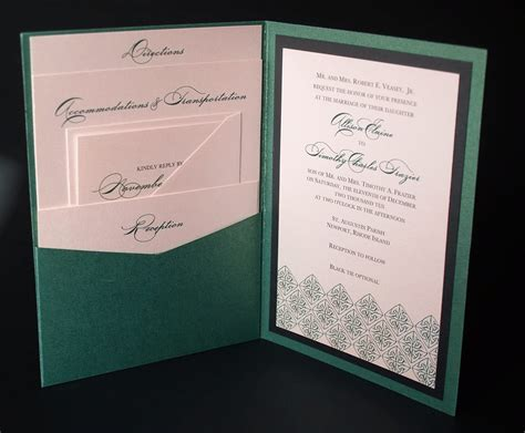 Wedding Pocket Invitations by Green Celtic Wedding Invitation A7 Pocket By