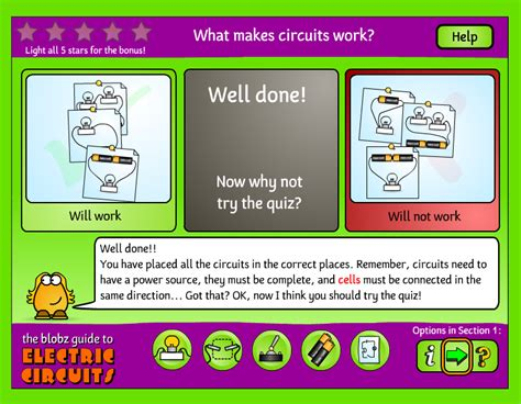 blobz electric circuits free technology for teachers an animated guide to