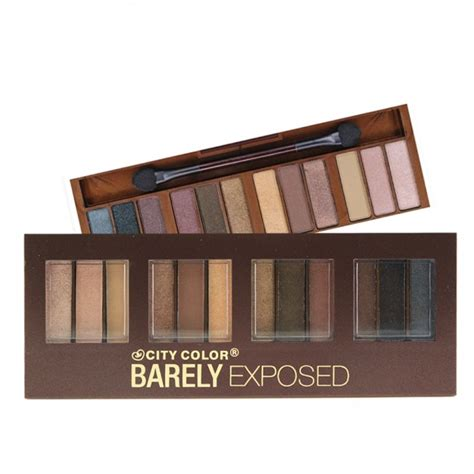 Eyeshadow Palette City Color Barely Exposed 2 Makeup Shimmer Matte everyday low price city color barely exposed eyeshadow at pick6deals pick6deals
