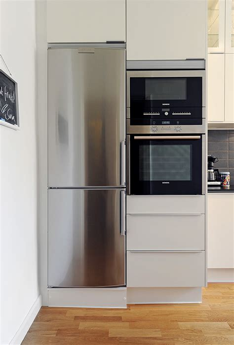 apartment kitchen appliances narrow fridge for narrow spaces gothenburg apartment 9