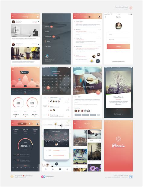smart home app design kit for sketch freebiesui phoenix app design ui kit for psd sketch freebiesui