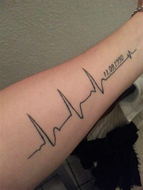 heart ecg tattoos