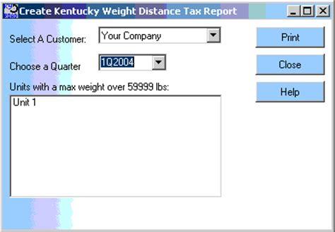 kentucky weight distance tax login