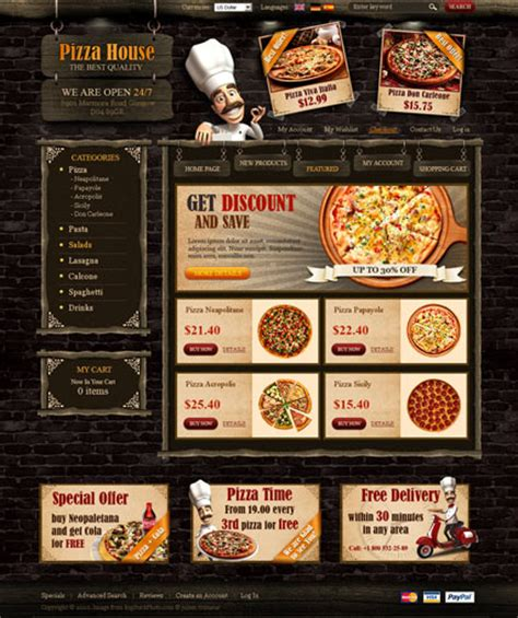 templates for pizza website web i templates 10 best pizza website templates showcase