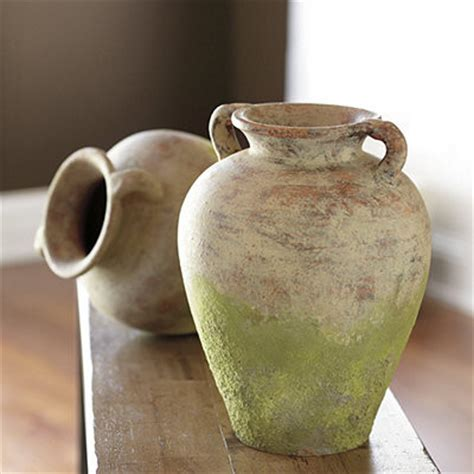 terracotta home decor aged terracotta jar mediterranean home decor by
