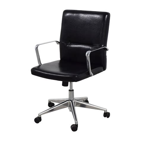 Black Office Chairs by 58 Sleek Black Office Chair With Chrome Armrest