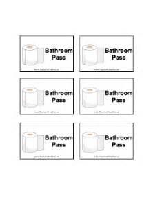 Bathroom Pass Template High School by Bathroom Pass