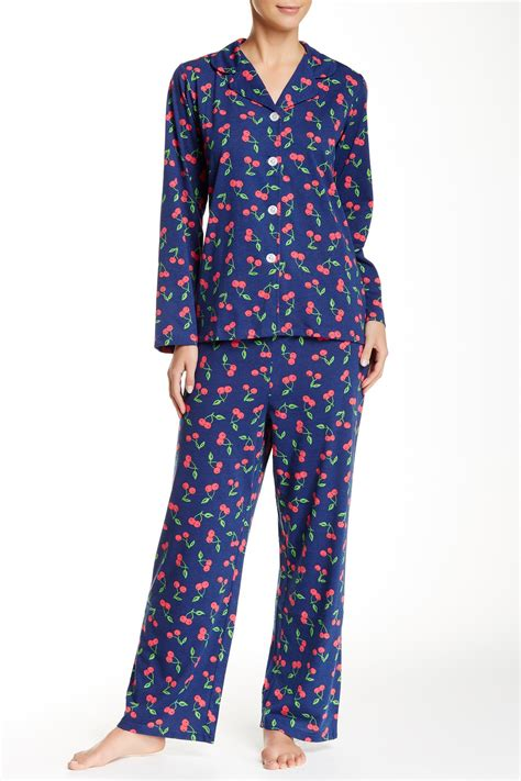 bed head pajamas bhpj by bedhead pajamas notch collar pj set nordstrom rack