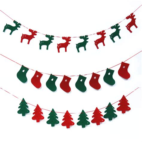 buy   year christmas tree pattern bunting banner red  green party