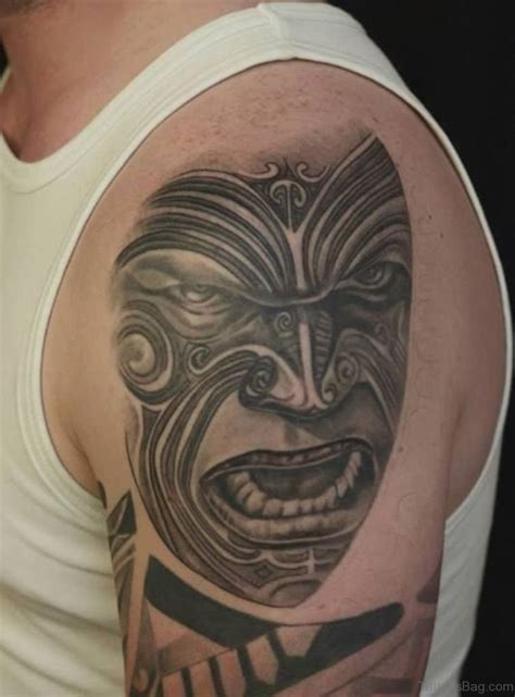 black grey tribal tattoos 60 gorgeous mask tattoos for shoulder