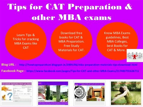 How To Prep For A Strategy Mba by Cat Mba Preparation Tips Useful Links