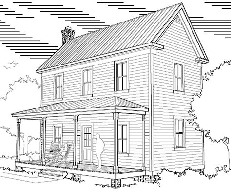 2 story farmhouse plans two story 16 x 32 virginia farmhouse house plans