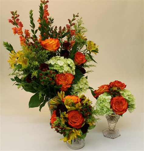 fall floral arrangements fall wedding flowers martin s the flower people