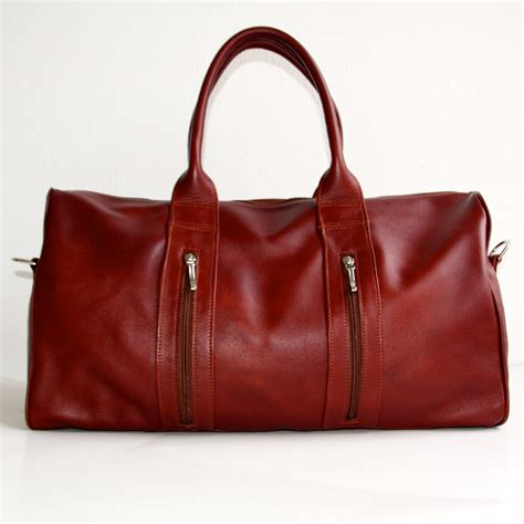 Handmade Leather Luggage - leather weekend bag handmade by vank design