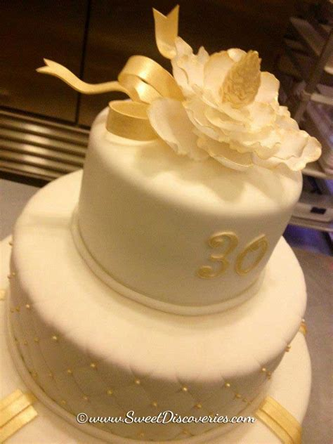 pin wedding cakes30 cake on pinterest 30 year work anniversary cake pictures to pin on pinterest