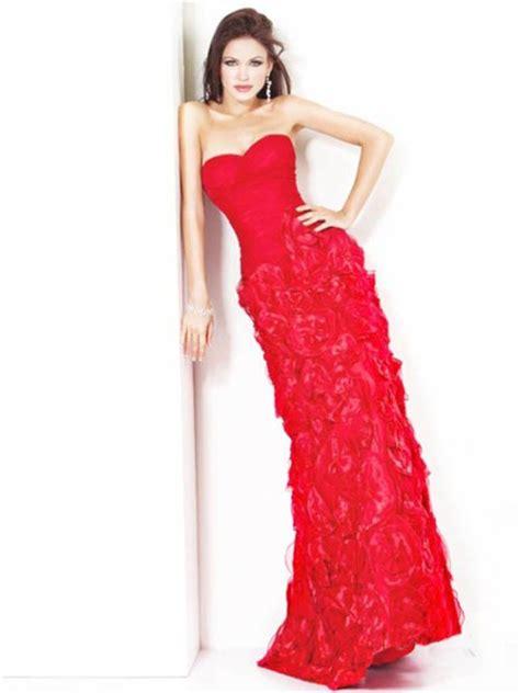 24440 Redwhiteyellow Roses Slim Dress sheath slim sweetheart ruched flowers evening