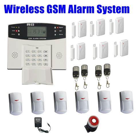gsm wireless alarm system security home burglar systems