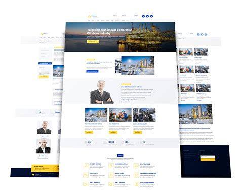 joomla template with video offshore free responsive industrial joomla template