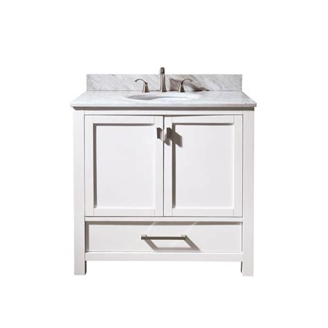 home depot 36 inch bathroom vanity avanity modero 36 inch vanity with carrera white marble