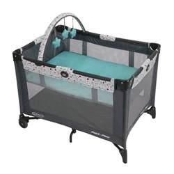 bassinet crib pack n play playpen playard blue portable