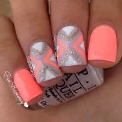 neon pattern nails 80 nail designs for short nails orange nail designs