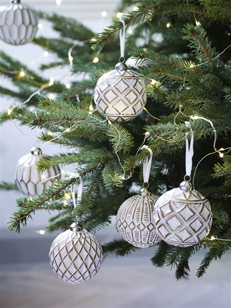 twelve copper and white tree decorations order your balsam