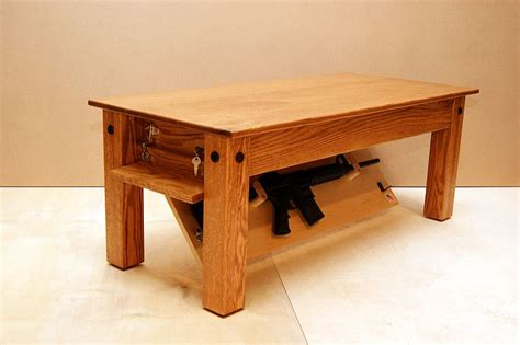 New Jersey Concealment Furniture by Hide Your Weapons Inside Secret Compartment Of This Oak