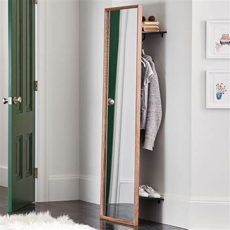 floor mirror with storage pbteen
