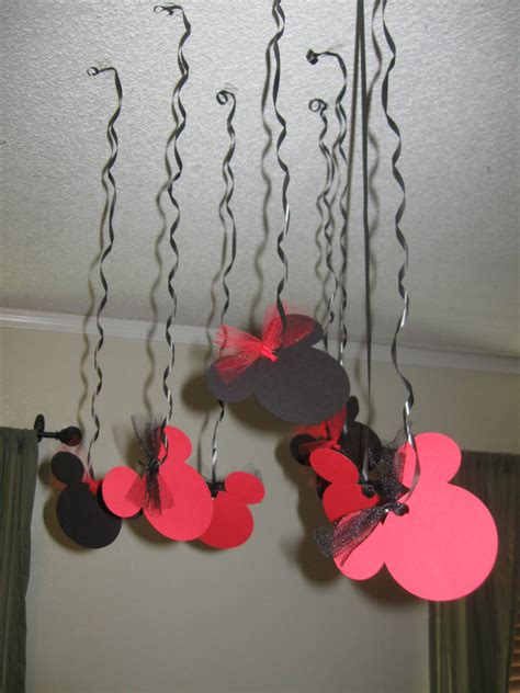 Handmade Minnie Mouse Decorations - mickey mouse birthday streamers 10 minnie by sweetpartywishes
