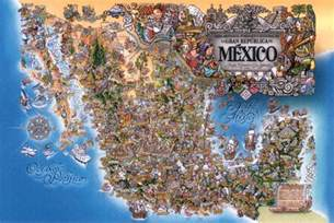 tourist map of mexico artistic cultural and tourist mexico map mexico mappery